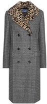 Prada Virgin wool-blend coat with fur collar