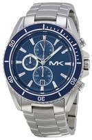 Michael Kors MK8354 JetMaster Blue Dial Stainless Chronograph Men