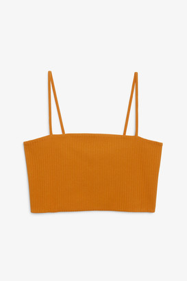 Monki Ribbed crop top