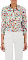 Barneys New York Women's Floral Pleated Cotton Shirt
