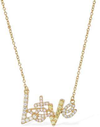 Vivienne Westwood Wilma Long Pendant Necklace W/ Crystals
