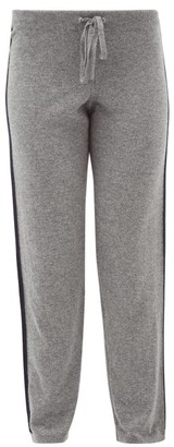 Johnstons of Elgin Johnston's Of Elgin - Lola Stripe-intarsia Cashmere Track Pants - Womens - Grey Multi