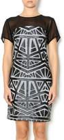 Lumiere Black White Midi Dress