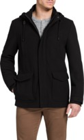 TAROCASH Mallory Hooded Melton Coat