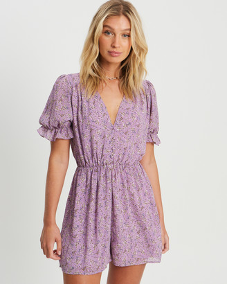 Savel - Women's Purple Playsuits - Samira Playsuit - Size One Size, 8 at The Iconic