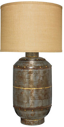 Jamie Young Caisson Hammered Table Lamp - Gunmetal