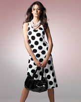 Bias-cut polka dot tank dress
