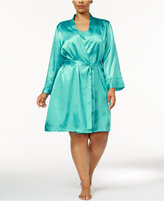 Thalia Sodi Plus Size Lace-Trimmed Wrap Robe, Only at Macy's