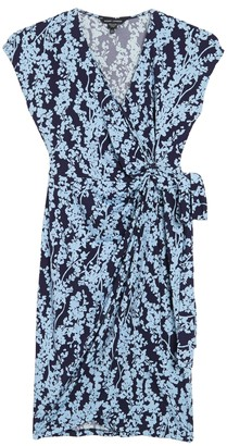 Maggy London Floral Cap Sleeve Wrap Dress