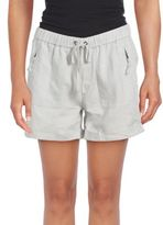 Saks Fifth Avenue Drawstring Cuffed Linen Shorts
