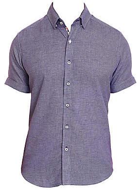 Robert Graham Men's Liam Houndstooth Short-Sleeve Shirt