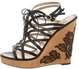 Valentino Leather Multi-Strap Sandals