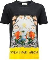 Gucci Water Lilies T-shirt - men - Linen/Flax - S