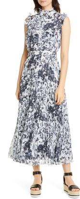 Erdem Sleeveless Pleated Midi Dress