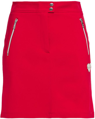 Love Moschino Appliqued Ponte Mini Skirt