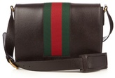 Gucci Web-panel Leather Messenger Bag