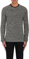 Barneys New York MEN'S MARLED BABY ALPACA-COTTON SWEATER