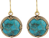 Barse FINE JEWELRY Art Smith by Turquoise Framed Round Earrings