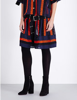 Sacai Embroidered pleated skirt