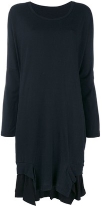 Y's layered ruffle hem sweater dress