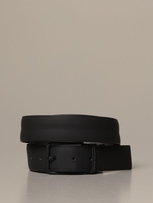 Armani Exchange Belt In Reversible Leather