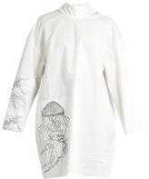 Awake Jellyfish-print high-neck cotton-blend tunic top