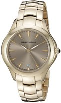 Emporio Armani Swiss Made Women's ARS8504 Analog Display Swiss Quartz Gold Watch
