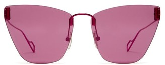 Balenciaga Bb-logo Cat-eye Sunglasses - Purple