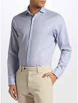 John Lewis Semi Plain Tailored Fit Shirt, Blue