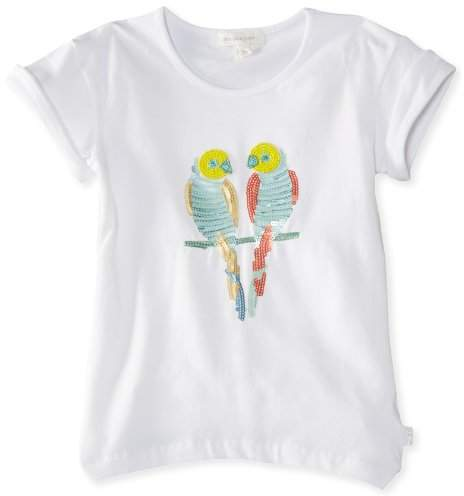 Pumpkin Patch Girl's Botanical Dreams Sequin Budgie T-Shirt
