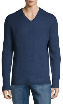 Black & Brown Black Brown V-Neck Lambswool Blend Sweater