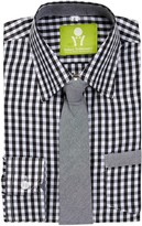 Future Trillionaire Sandbox Patrol Gingham Plaid Shirt & Tie (Toddler, Little Boys, & Big Boys)