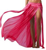 SZHEM Womens Sexy Side Slit Gauze Beach Skirt Swimsuit Cover Ups Swimwear