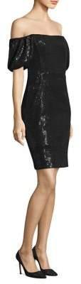 Nanette Lepore Daredevil Sequin Off-The-Shoulder Dress