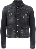 Versus cropped denim jacket - men - Cotton - 46