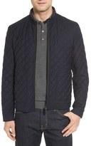 Luciano Barbera Diamond Quilted Wool Blend Water-Repellent Moto Jacket (Regular & Big)