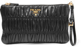 Prada Matelassé Leather Clutch - Black