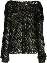 Alexandre Vauthier shimmer details blouse