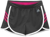 adidas Granite & Shock Pink Active Shorts - Girls