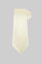Moss Bros Lemon Floral Silk Tie