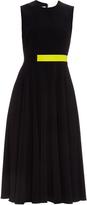 Roksanda Sage contrast-panel midi dress