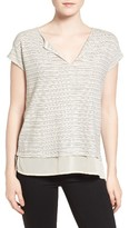 Sanctuary Women's City Remix Stripe Linen & Cotton Tee