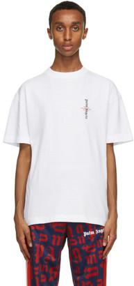 Palm Angels White Statement T-Shirt
