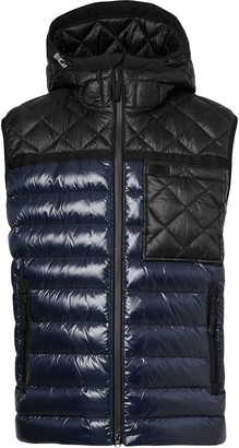 Burberry Quilted Panel Hooded Puffer Gilet