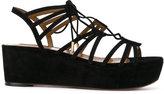 Aquazzura strappy platform sandals - women - Calf Leather/Goat Skin/Suede - 38