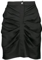 Etoile Isabel Marant Hotta Draped Gathered Crepe-Satin Mini Skirt