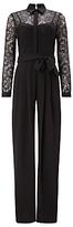 Phase Eight Lace Shirt Jumpsuit, Black