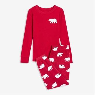 Joe Fresh Toddler Boys' 2 Piece Jogger Sleep Set, Red (Size 2)