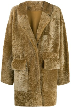 Drome textured shearling coat