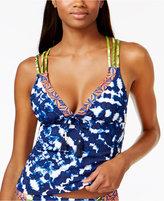 LaBlanca La Blanca Island Mix Tie-Dyed Strappy-Back Tankini Top Women's Swimsuit